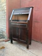 1930s American Optical Roll Top Apothecary Industrial Cabinet Entryway Foyer