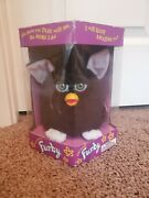 Original 1998 Unopened Furby 70-800 Black W/pink Ears And Green Eyes White Feet
