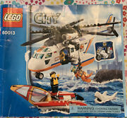 Lego City Coast Guard Helicopter 60013 - 99 Complete W/ Manual