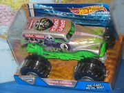 1/24 Hot Wheels Monster Jam Grave Digger Truck 4 Time Champion Silver Diecast