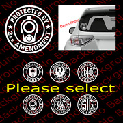 Protected By 2nd Amendment 2a And Others 1911 Barrel Gun Right Window Decals Fa085