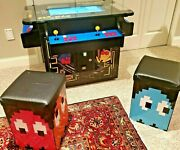🔥 4 Player Custom 11 Pac Man Cocktail Arcade Cabinet Table 1200 Games 2 Stools