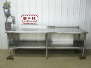 8and039 X 30 Stainless Steel Heavy Duty Kitchen Cabinet Work Prep Table 96 X 2and039 6