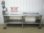 8' X 30 Stainless Steel Heavy Duty Kitchen Cabinet Work Prep Table 96 X 2' 6