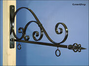 Sign Bracket - Sign Hanger - 24 Wide Sign Capacity - Forged Wrought Iron