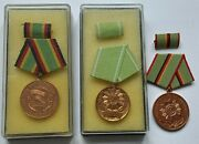 3 X East German Police Officer Stasi Badge Cold War Very Rare