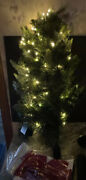 Bethlehem Lights 30 Green Stand Christmas Pine Tree Led Clear Lights Red Bow