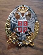 Serbia Female Officer Badge Insignia Ground Forces For Cap