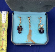Juicy Couture Charms Trio Grapes, Strands, And Wine Pitcher 2004 Nib Ultra Rare
