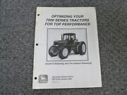 John Deere 7200 7400 7600 7700 7800 Tractor Ballasting And Tire Inflation Manual