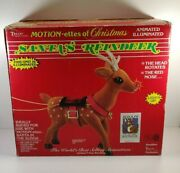 Telco Santa's Reindeer Motionette Lights Up Rudolph Christmas In Box 16 Tall