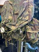 Army Surplus 120 Litre Backpack/rucksack/daysack With Two Side Pouches 2011