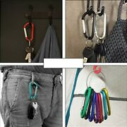 Security Key Chain Holder Safety Coil Carabiner Rope Tool Safety Belt Clip Hook