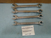 Cornwell 4 Pc. Set Single End Flare Nut Line Wrench W/ Same Size Open End F126