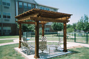 10and039 X 10and039 Cedar Pergola Built And Installed By The Gazebo Factory Of Texas
