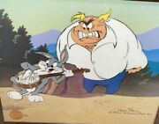 Warner Brothers Cel Bugs Bunny High Strung Signed Chuck Jones Rare Edition Cell
