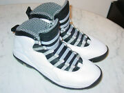 2013 Nike Air Jordan Retro 10 Steel 2013 White/grey Shoes Size 10 Sold As Is
