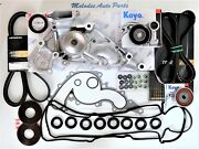 Oem Aisin Water Pump Kit W/drive Belt And Valve Cover Gasket For Toyota Tundra 4.7