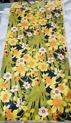 Vintage Bloomcraft Chintz Polished Cotton Fabric Daffodils 2 Pieces 66 L And 40l