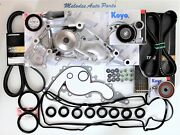 Oem Aisin Water Pump Kit W/drive Belt And Valve Cover Gasket For Toyota Tundra