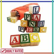 Abc Wooden Blocks Wood Alphabet Block Learning Letter Stacking Toys By Skoolzy