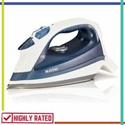 Steam Iron Vertical Steamer Heat With Stainless Steel Sole Plate Blue By Maytag