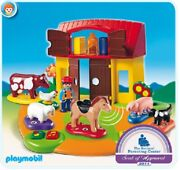 New Playmobil 1.2.3. Interactive Play Learn Farm Barn Animal Sounds Numbers 6766