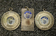 Uruguay Antique Lot X3 Swimming Water Polo Awards Championship Medals