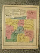 Manchester Ct. Vintage Hand Colored 1869 Map. Not A Reprint.