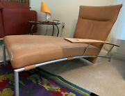 Contemporary Chaise By Cor German-made Top-grain Leather