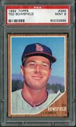 1962 Topps 369 Ted Bowsfield Angels Psa 9 60032665
