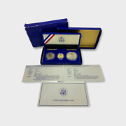 1986 U.s. Liberty 3-coin Proof Set 5 Gold Silver 1 And Half Dollar Spg040306