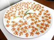 Hermes China Jardin Des Orchidees Charger Chop Plate France - Mint, Nice