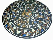 42 Marble Dining Table Top Inlay Rare Semi Round Center Coffee Table Ar1273