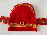 Boy Baby Chinese New Year Asian Red Traditional Tang Han Costume Match Hat Cap