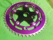 Gt Elite Racing Bmx Sprocket 46t Tooth Used Purple Chainring Super Rare. 🔥