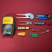 Set Of Crimping And Cutting Tools For Coax Cable   Fluke   Ideal   Harris