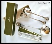 Christofle France Marly Silver Plated Serving Set Cheese Knife Ladle Fork Spoon