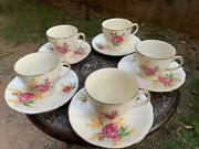 Vintage Rare Collectible Alfred Meakin England Tea Cup Set F 5 Cup Plate Sets