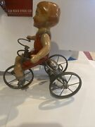 Marx Wonder Cyclist With Original Box. Works And Bell Rings