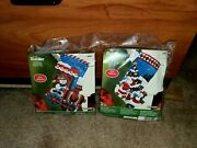Nip Lot Of 2 Bucilla 16 In Christmas Stocking Kits- Pick A Tree And All Aboard New
