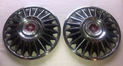 1967 1968 Ford Mustang 14 Hubcaps Wheel Covers Pair Daily Driver Man Cave Oem