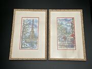 Arno French Watercolor Paintings 1960s Vintage Signed Prints Custom Set