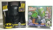 New- 2pc Batman And Joker Voice Changing Mask And Magic Prank Dc Comic Gift Party