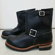 New Red Wing Shoes Black Leather 2876 Engineer Boot Steel Toe Sz 8 D Sold Out