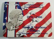 Complete 2 Year Uncirculated Set Of Susan B Anthony Dollars 6 Coins Three Mints