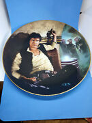 Vintage 80and039s Star Wars Han Solo 1986 Hamilton Collection Plate With Certificate