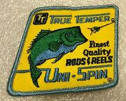 Vintage Original True Temper Uni-spin Fishing Patch Finest Quality Rods And Reels