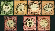 German Empire Early Postage Stamp Postmark Collection Europe 1872 Used