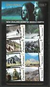 New Zealand 2004 Lotr 'middle Earth' L/e Numbered Imperf Mini Sheet Mnh